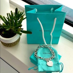 Authentic Heart Tag Charm Bracelet by Tiffany.